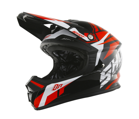 casque shot furious rouge