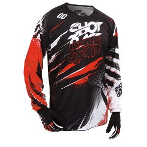 Maillot moto cross shot rouge